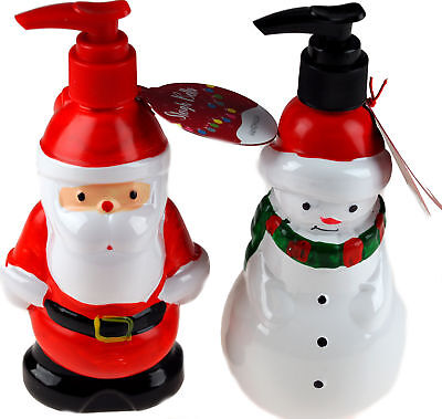 Set of 2 Christmas Scented Hand Wash Soap - Santa / Snowman