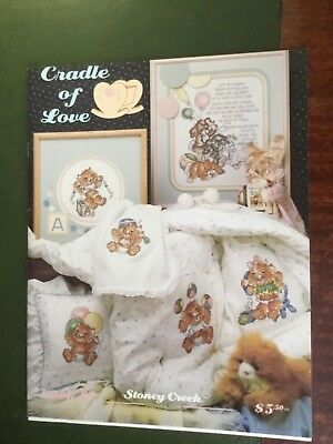 Stoney creek cross stitch pattern booklet called 'Cradle of Love'