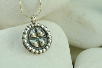 A.LeONDARAKIS Byzantine Forged Cross/Pendant - Solid .925 Sterling Silver