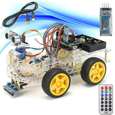 4WD Smart Car Robot Starter Kit - Programmable Robot for Arduino Chrismas Gift