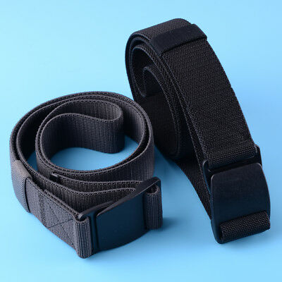 Men Outdoor Sports Nylon Web Belt Plastic Buckle Canvas Belt Waistband Fashion
