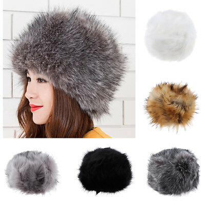 1630ad20384 LADY WINTER WARM Cossack Hat Russian Style Ski Cap Soft Fake Fur ...