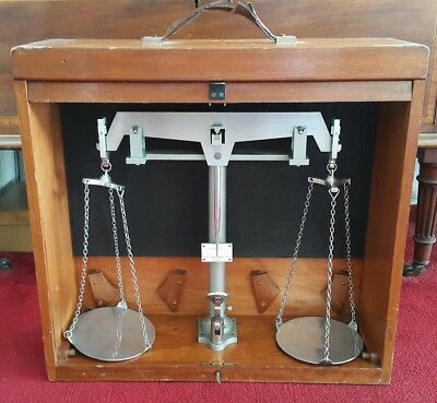 Cased Antique WILLIAM A WEBB LTD ILFORD Apothecary Pharmacy Scales 1895-1905
