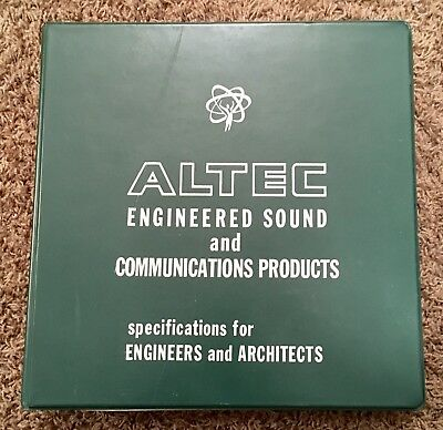 Original Altec Binder For Engineers And Architects Vintage 1960's VG++