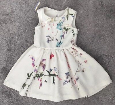 🌸NEXT Baby Girls Floral Dress Beautiful Colours Age 18-24 Months🌸