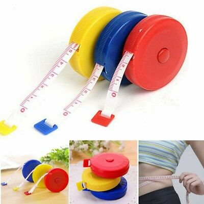 Mini Retractable 1.5M Sewing Tailor Cloth Soft Flat Tape Body Measure Ruler 5x