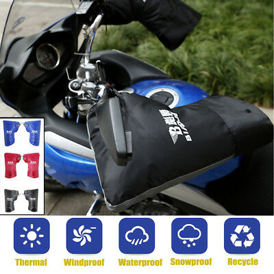 Waterproof Winter Motorcycle  Scooter Handlebar Muffs Gloves Hand Cover Warmer