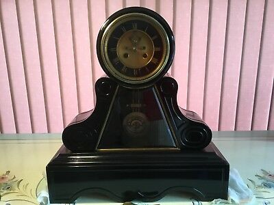 Stunning Visible Escapement French Mantle Clock - Bell Chime & Ellicott Pendulum