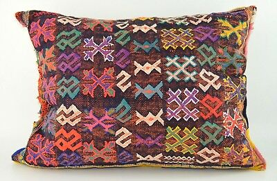 Moroccan Vintage Kilim Carpet Cushion Cover Pillow  Berber Wool *handmade*