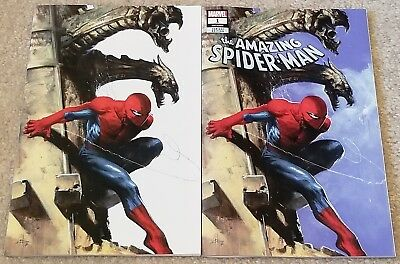 Amazing Spider-Man 1 Lgy 802 V5 Dell Otto Virgin White Variant Set New Villain