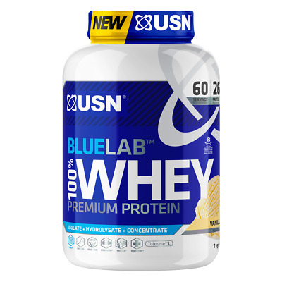 USN Blue Lab 100% Whey Protein Powder Isolate & Hydrolysate Muscle Growth 2kg