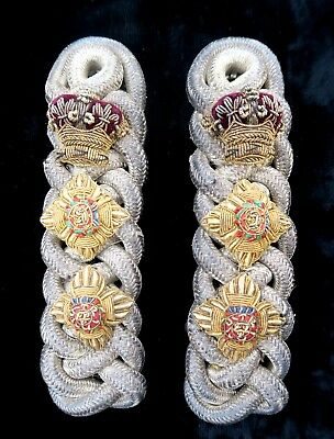 Victorian Yeomanry Officer's Colonel's Shoulder Cords / Epaulettes