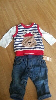 Baby Boys  Christmas Outfit 0-3 Months  (New)