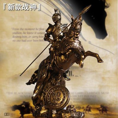 Vintage Abstract Medieval Knight Battle Horse Statue Home Decoration Accessories