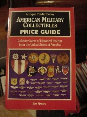1995 Book, American Military Collectibles Price Guide, Usa Army, Navy, Air Force