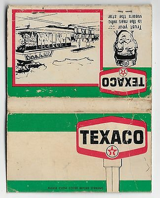 VINTAGE  Texaco Products Oil Gas  Matchbook Used Worn