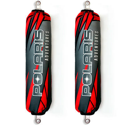 Red / Grey Polaris Sled Shock Protector Covers Snowmobile (Set of 2) NEW