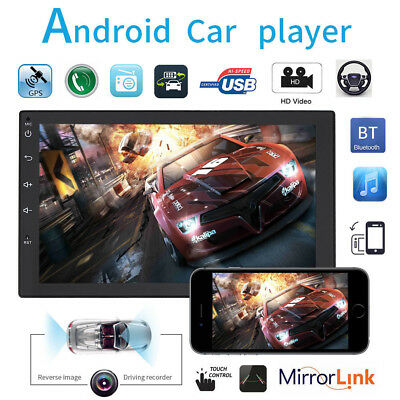 "7"" HD GPS Navi Android 6.0 Double 2Din In-Dash Car Stereo Radio WiFi Bluetooth"