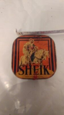 Vintage Sheik  Advertising Condom Tin Empty And Advertising  *rare*