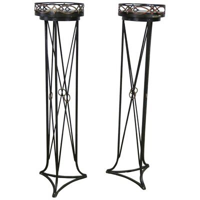 Pair of Hollywood Regency Style Plant Stands