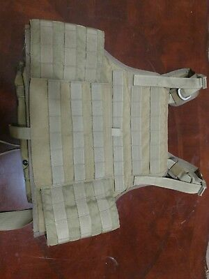 Eagle Allied Industries MJK Khaki Tan 1000D MBAV S/M Plate Carrier Vest-Auction