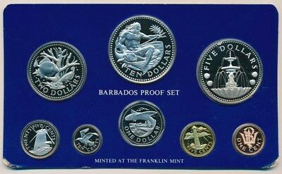 Barbados: 1975 Proof Set, 1.93oz Silver , Cased