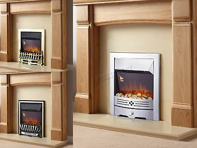 FoxHunter Electric Fire - 2000W Home Flame Effect Gas Fireplace Look 3 Designs
