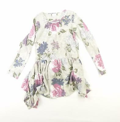Next Girls Grey Floral Top Age 9