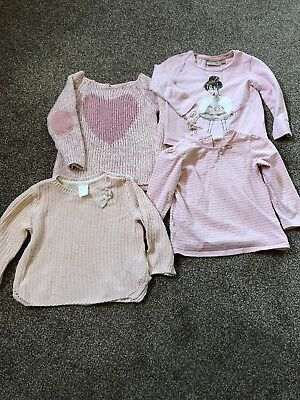 Bundle Baby Girls Tops Jumpers Pink Next H&M F&F 9-12 Months