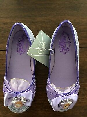 """Disney Store """"Sofia The First"""" Girl Costume Dress Shoes Size 13/1 NWT $16.95"""