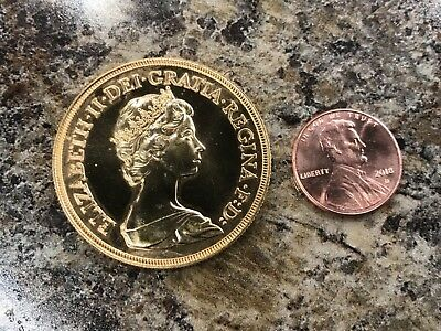 1984 Great Britain £5 Five Pounds Quintuple Sovereign Gold Coin  - KM# 924