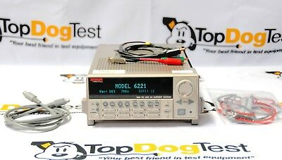 """KEITHLEY 6221 DC and AC Current source  """"  CALIBRATED  """""""