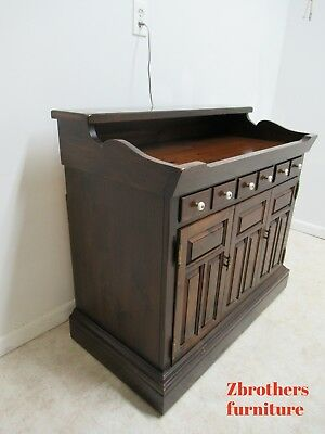 Rare Ethan Allen Old Tavern Dry Sink Tv Console Cabinet Magnavox