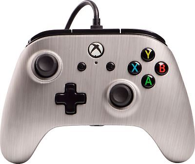 PowerA - Enhanced Wired Controller for Xbox One - Brushed Aluminum