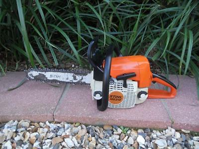genuine stihl ms210 chainsaw USED CONDITION just had new chain LOOK!