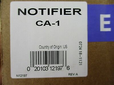 (New) Notifier Ca-1 - Dvc Single Row Chassis