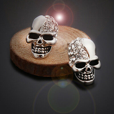Punk Skull Earring Unisex Cool Jewelry Hip-hop Stud Vintage Rock Skeleton LD