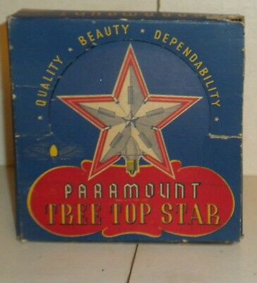 old paramount tree top star in original box it lights