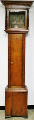 Antique English Solid Oak Longcase Grandfather Clock Case Only