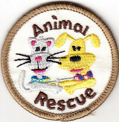 ANIMAL RESCUE Iron On Patch Dogs Cats Animals Pets Puppies