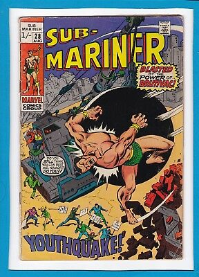 "Sub-Mariner #28_August 1970_G/vg_""the Power Of Brutivac""_Bronze Age Marvel Uk!"