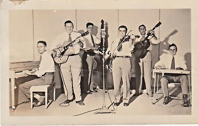 Vintage JIMMIE HEAP AND THE MELODY MASTERS Photo Postcard - Texas Honky-tonk
