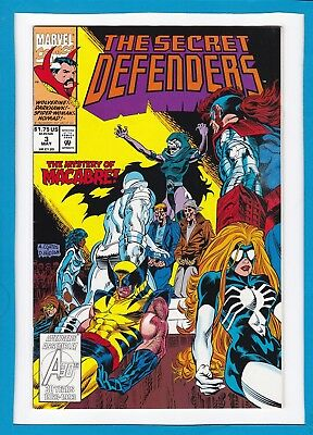 "The Secret Defenders #3_May 1993_Very Fine_Wolverine_""the Mystery Of Macabre""!"