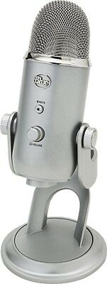 Blue Microphones Yeti USB Condenser Microphone + Generic USB Cable - Silver - UD
