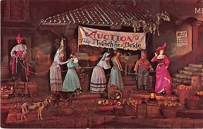Disney World postcard Pirates of the Caribbean Wench for a Bride Red Head