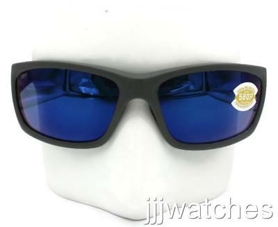 4e025525dadba New Costa Del Mar Jose Matte Gray Sunglasses Blue Polarized Lens JO 98 OBMP   199