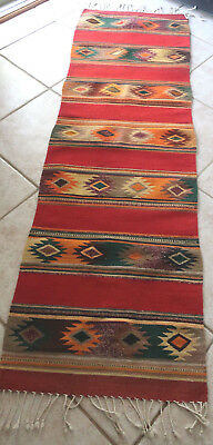 Vintage Navajo Native American Indian Hand Woven Rug Wool Vguc 82
