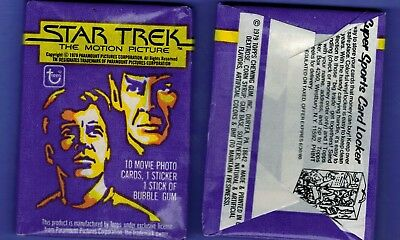 1979 Topps Star Trek Unopened Pack From My Box 10 Cards 1 Sticker Shatner Nimoy