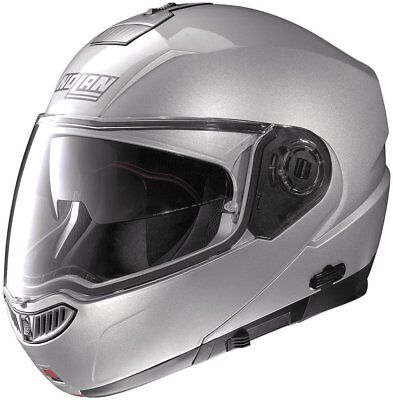 Nolan N104 Evo Modular Flip-Up Helmet With MCS & Drop Down Sun Visor Silver
