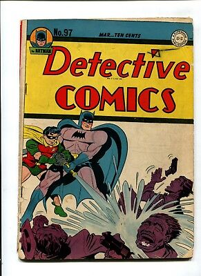 Detective Comics #97 VINTAGE Batman DC Comic Golden Age 10c Robin